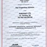 Certyfikat d+h - systemy oddymiania, zamknięć ogniowych i naturalnej wentylacji d+h