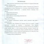 list referencyjny Muzeum Narodowe w Szczecinie