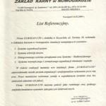 List referencyjny- zakład karny w Nowogardzie