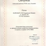 Certyfikat InPro BMS