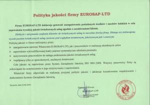 Polityka jakości firmy EUROSAP-LTD
