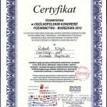 Certyfikat - Ogólnopolski Kongres Pożarnictwa