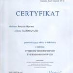 Certyfikat Urmet Miwi