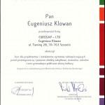 Zaświadczenie - Narodowy Instytut Muzealnictwa i Ochrony Zbiorów